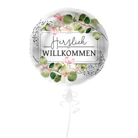 Herzlich Willkommen Geschenkballon