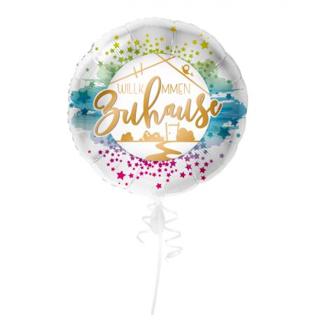 Willkommen Zuhause mit Sternen Geschenkballon