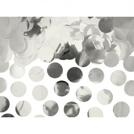 Folienkonfetti Silber Matt, Rund 2 cm / 15 G