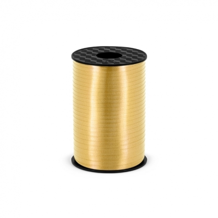 Polyband - Geschenkband Gold Matt 5 mm - 225 Meter