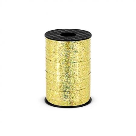 Polyband - Geschenkband Gold Holo 5 mm - 225 Meter