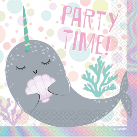 Servietten Narwhal Party Time