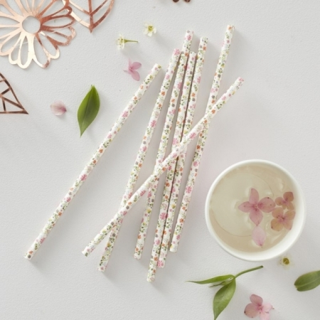 Trinkhalme Blumig Ditsy Floral 25 Stück