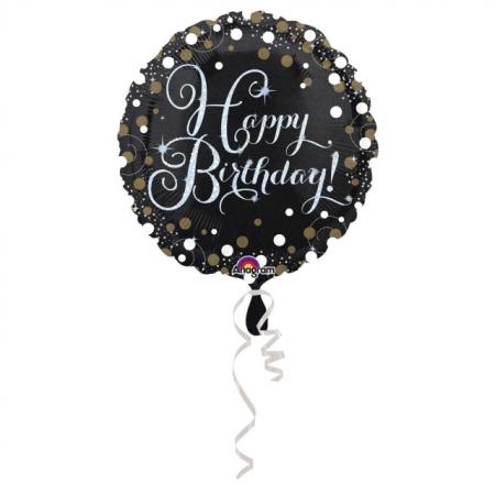 Geschenkballon Happy Birthday Sparkling