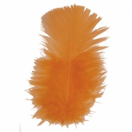 Schmuckfedern Orange 100 Gramm