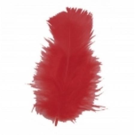 Schmuckfedern Rot 100 Gramm