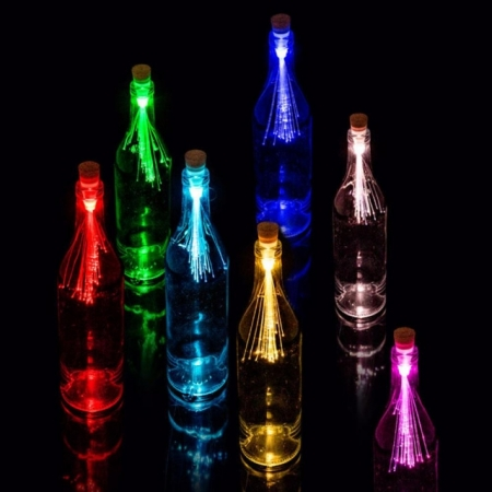 Bottle Light Fibre Optic Multicolor