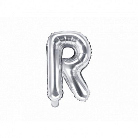 Buchstabenballon R - Silber 40cm