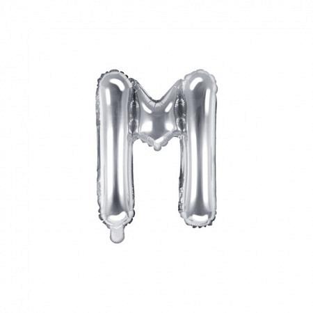 Buchstabenballon M Silber - 40cm
