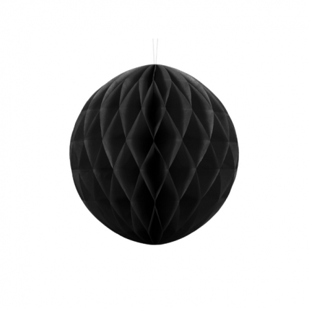 Wabenball Honeycomb Schwarz 30 cm