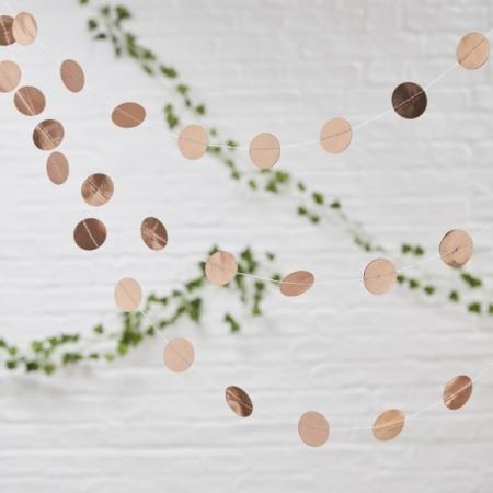 Girlande mit Kreisen in Rose Gold Beautiful Botanics