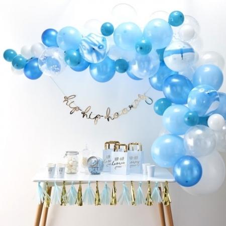 Ballongirlande DIY Blau Ballonbogen