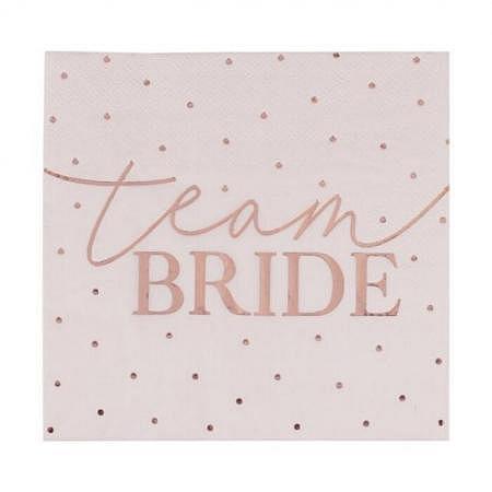 Team Bride Servietten Hen Party 20 Stück