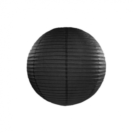 Lampion Schwarz 25 cm