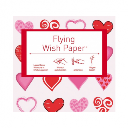 Flying Wish Paper Hearts