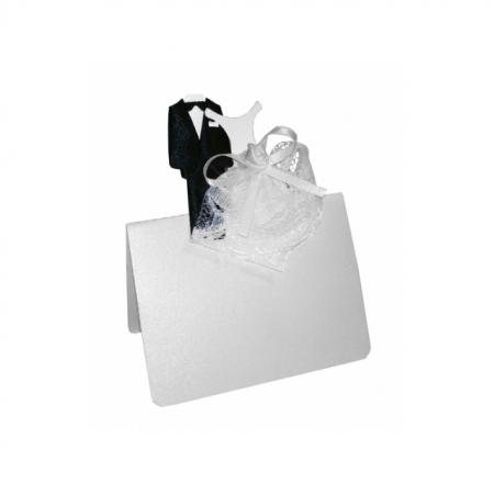 Tischkarten Brautpaar à 12 Stück