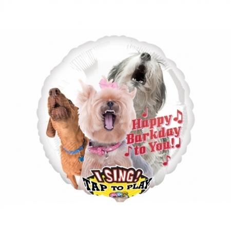 Singender Ballon Happy Birthday Hunde