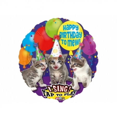 Singender Ballon Happy Birthday Katzen