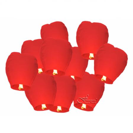 Himmelslaterne Flammea Rot 10er Set