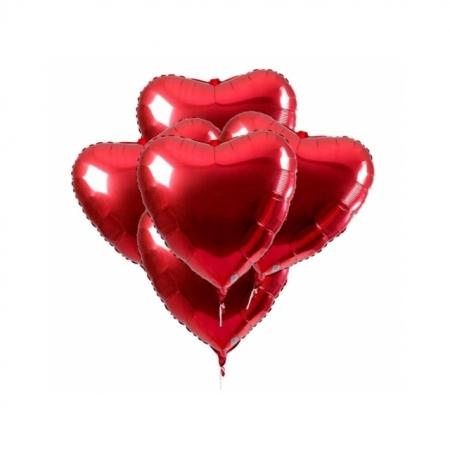 Ballonversand heliumgefüllt Ballonbouquet 5 Herzen