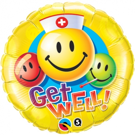 Geschenkballon Get Well Smiley