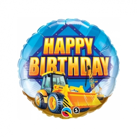 Ballon Happy Birthday Baustelle
