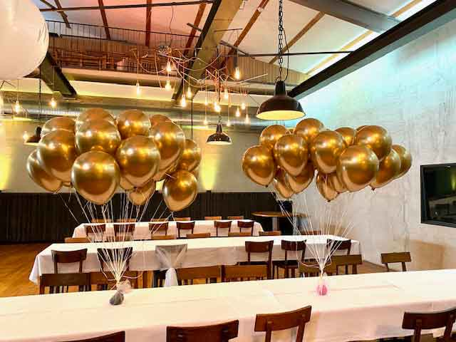 Ballon-Bouquet Chrome-Gold 2x10