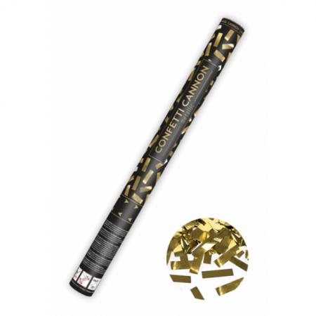 Konfettikanone Goldflitter 60 cm