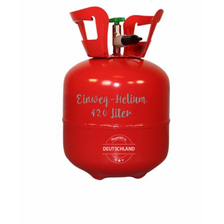 Helium Einweg 420 Liter für 28-50 Luftballons