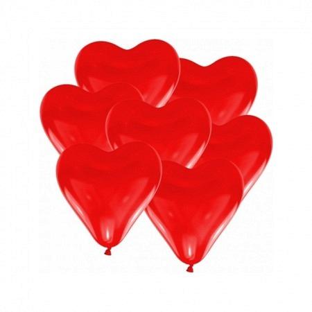 Herzballons rot midi 30 cm Helium geeignet