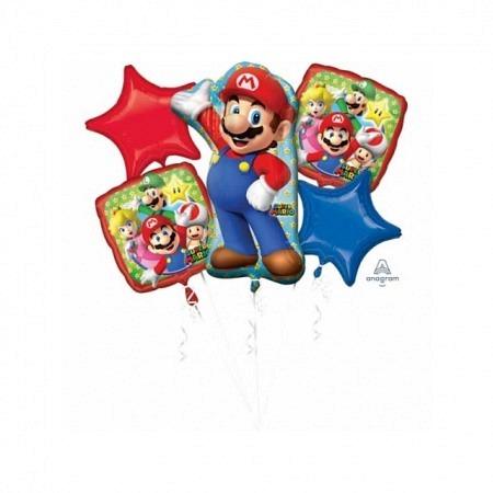 Ballon Bouquet Jumbo Super Mario 5-Ballons