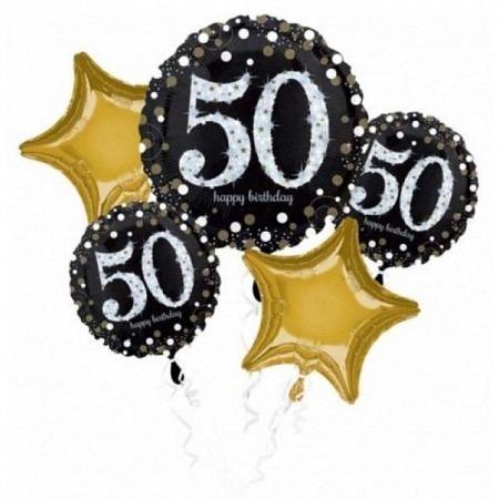 Ballon Bouquet Jumbo zum 50. Geburtstag 5-Ballons