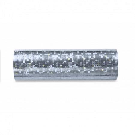 Luftschlange Silber Holo glänzend