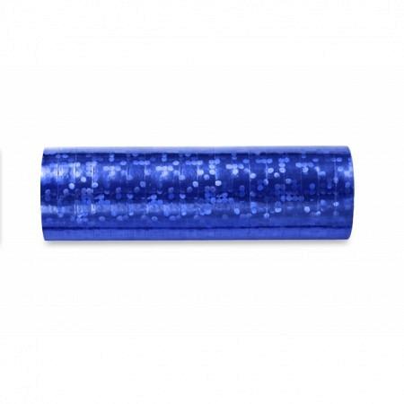 Luftschlange Blau Holo glänzend