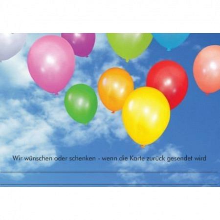 Ballonflugkarte Neutral 60 Stück