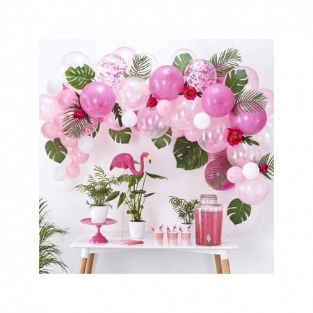 Ballongirlande DIY Pink Ballonbogen