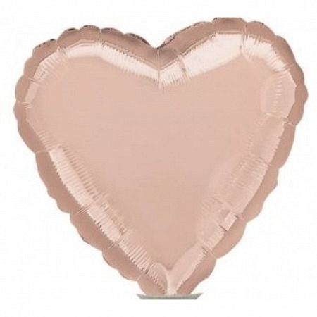 Geschenkballon Herz Rosé Gold Mini Luftgefüllt