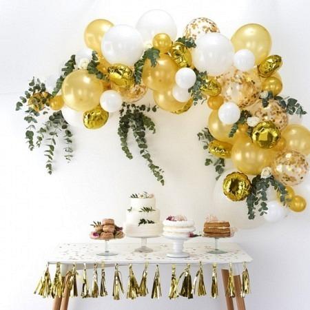 Ballongirlande DIY Gold Ballonbogen