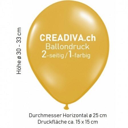 Ballondruck 500 Stück 2-seitig / 1-farbig