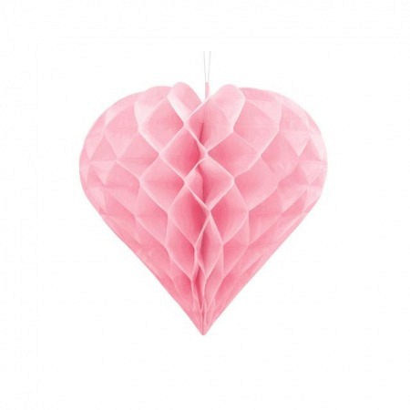 Wabenball Herz Rosa 20 cm