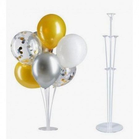 Tisch Ballonständer 70 cm transparent