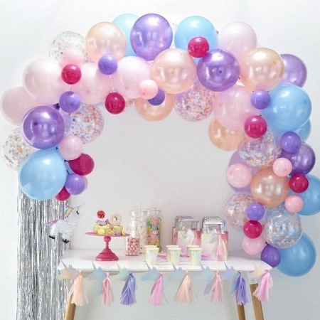 Ballongirlande DIY Pastell Ballonbogen