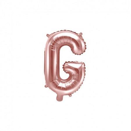 Buchstabe Folienballon G Rose Gold 35-40 cm