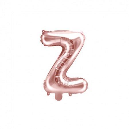 Buchstabe Folienballon Z Rose Gold 35-40 cm