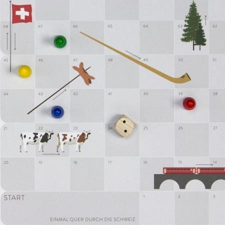 Landauf Landab Leiterlispiel - Typisch Schweiz