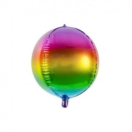 Kugelballon Regenbogen Geschenkballon