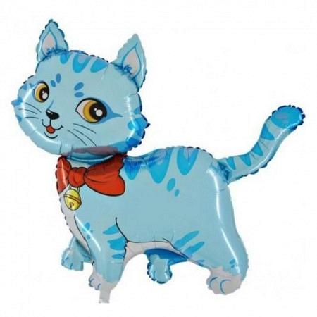 Katze Blau Geschenkballon