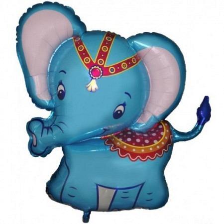 Babyelefant Blau Geschenkballon