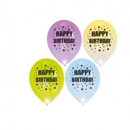 LED Ballons Happy Birthday - Leuchtende Luftballons