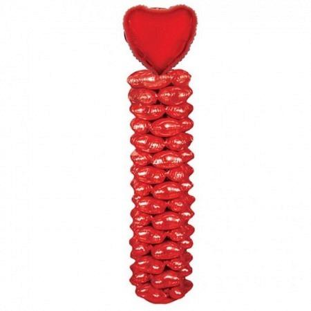 Ballonsäule Herz Rot DIY